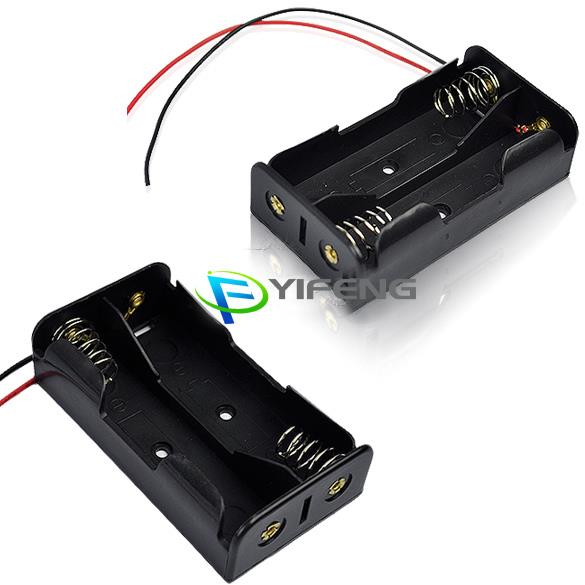 2 x 18650 Battery Holder Case Box with 6 inch Wire Leads