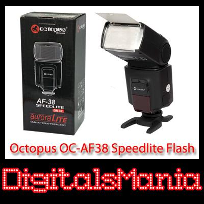 2 Yrs Warranty Octopus OC-AF38 Non TTL GN38 Speedlite Flash - 1100D 5D..