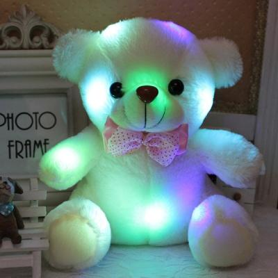 20 CM Colorful Glowing Mini LED Bear Luminous Plush Toy for Girl