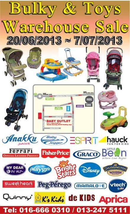 20-Jun To 07-Jul-2013:Baby Outlet Warehouse Sale - Bandar Sunway!
