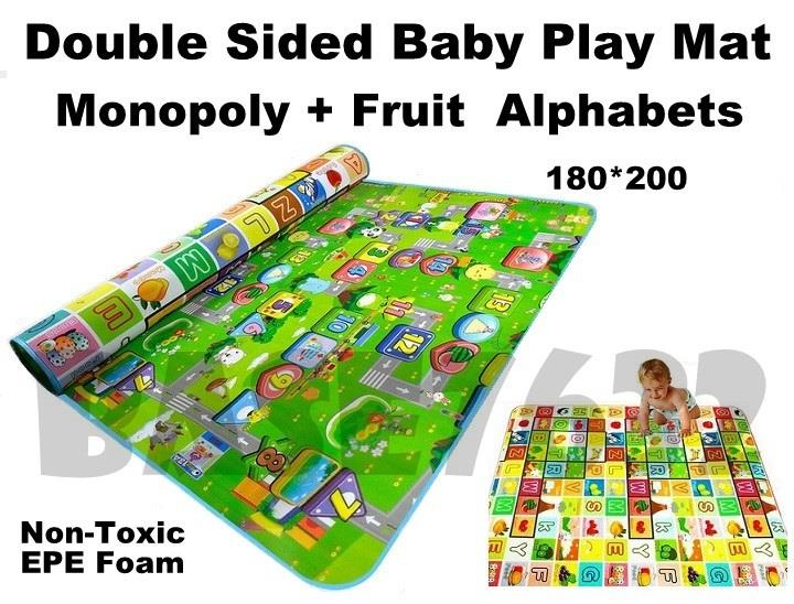 200*180*1.5cm Double Sided  Baby Kid Crawling Floor Safety Play Mat