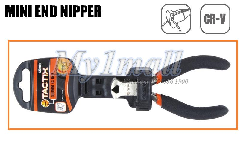 "200189 TACTIX PLIERS MINI END NIPPER 100MM(4"")"