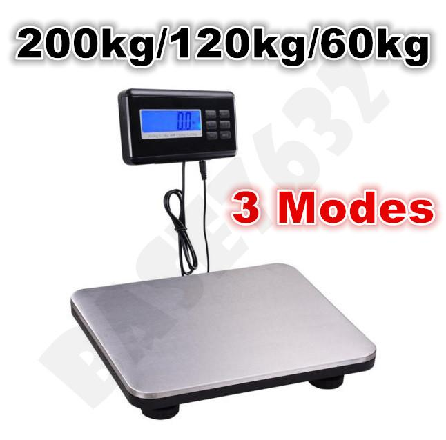 200kg/120kg/60kg Switchable Heavy Digital Weighing Platform Scale