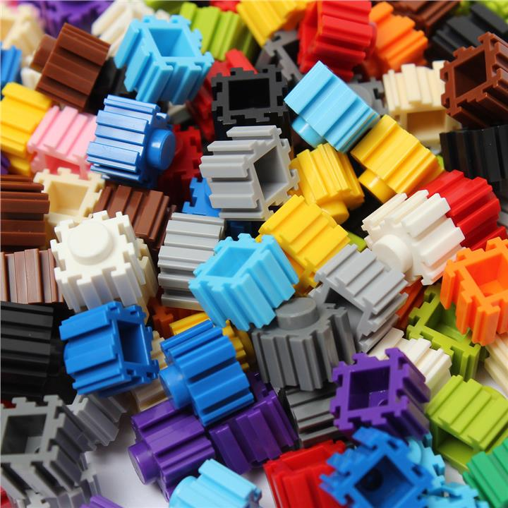 200Pcs Multicolor Variety Blocks Bricks Children Puzzle Education Crea