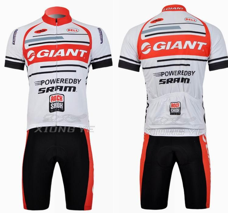 2011 GIANT White bicycle cycling jersey and short MTB Bike