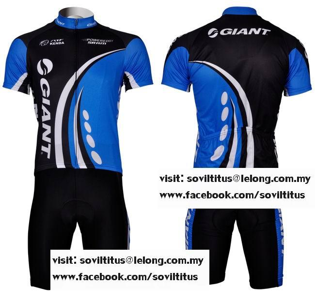 2012 GIANT BLUE Bicycle Cycling Jersey + Shorts Bike