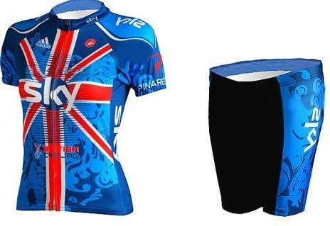 2014 Sky Lady Cycling Jersey + Shorts (3615)