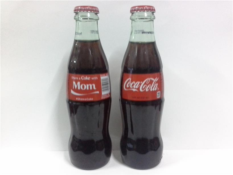 2015  COCA~COLA ATLANTA , GA FULL GLASS BOTTLE 237ml @ MOM