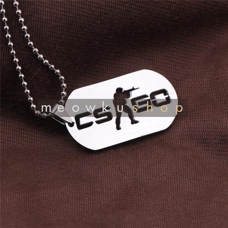 NEW 2016 CSGO Counter Strike CS Tag Logo Metal Necklace Rantai