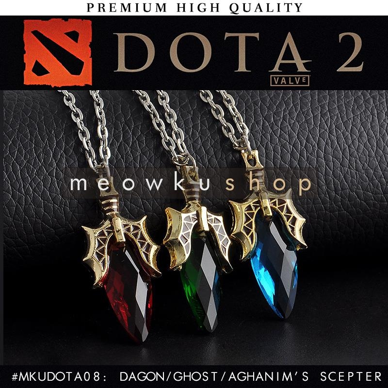2016 New DOTA 2 Aghanim's Ghost Scepter Dagon 34cm Crystal Necklace