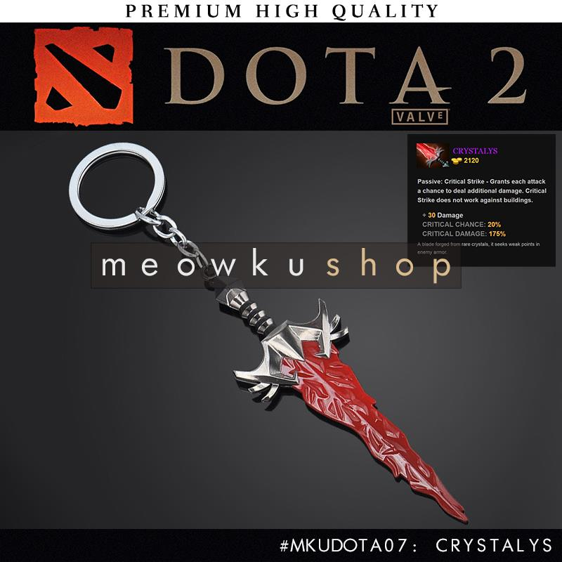 2016 New DOTA 2 In-Game Item Crystalys Critical 18.5cm Keychain