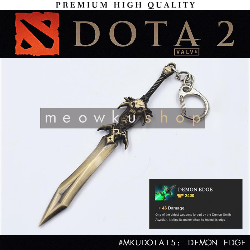 2016 New DOTA 2 In-Game Item Demon Edge 15.5cm Keychain