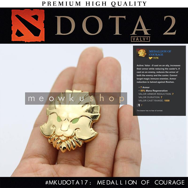 2016 New DOTA 2 In-Game Item Medallion Of Courage 3.7cm Brooch Pin