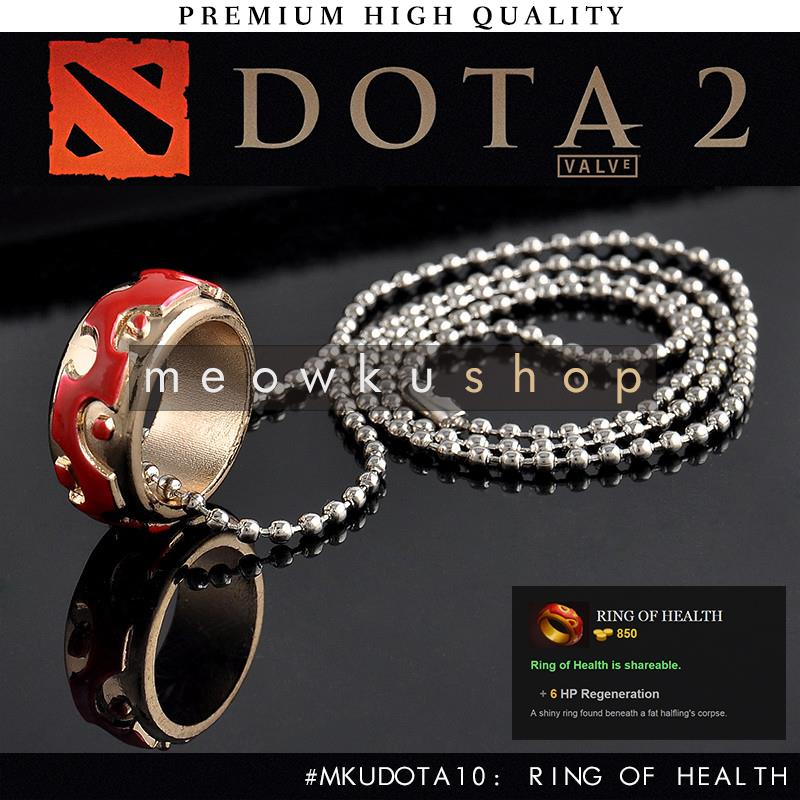 2016 New DOTA 2 In-Game Item Ring Of Health 26.5cm Necklace