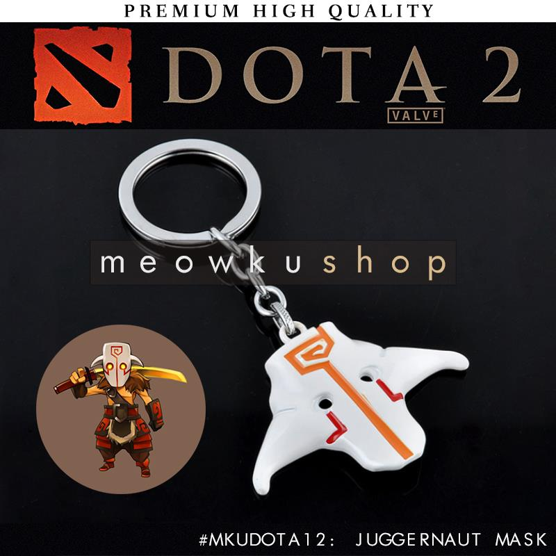 2016 New DOTA 2 In-Game Item Yurnero Juggernaut Mask 10.5cm Keychain