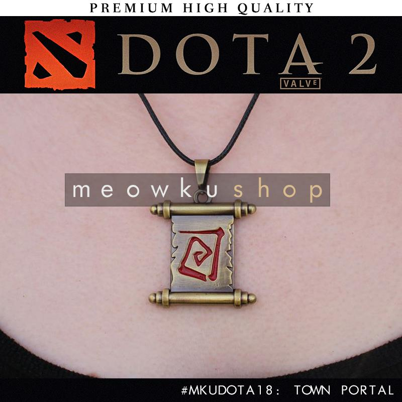 2016 New DOTA 2 In-Game Town Portal 31cm Necklace