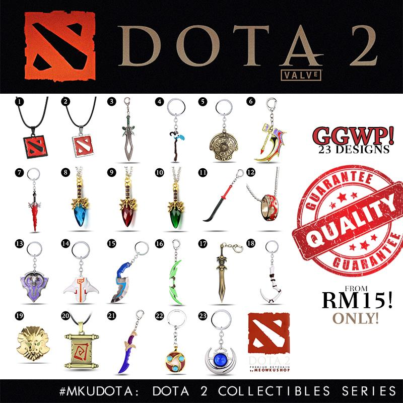 2016 New DOTA 2 Premium High Quality Keychain Collectibles 23 Design