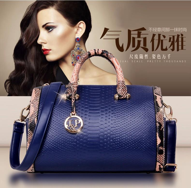 2016  Fashion Women Messenger Patent Leather Tote Luxury vintage Bag