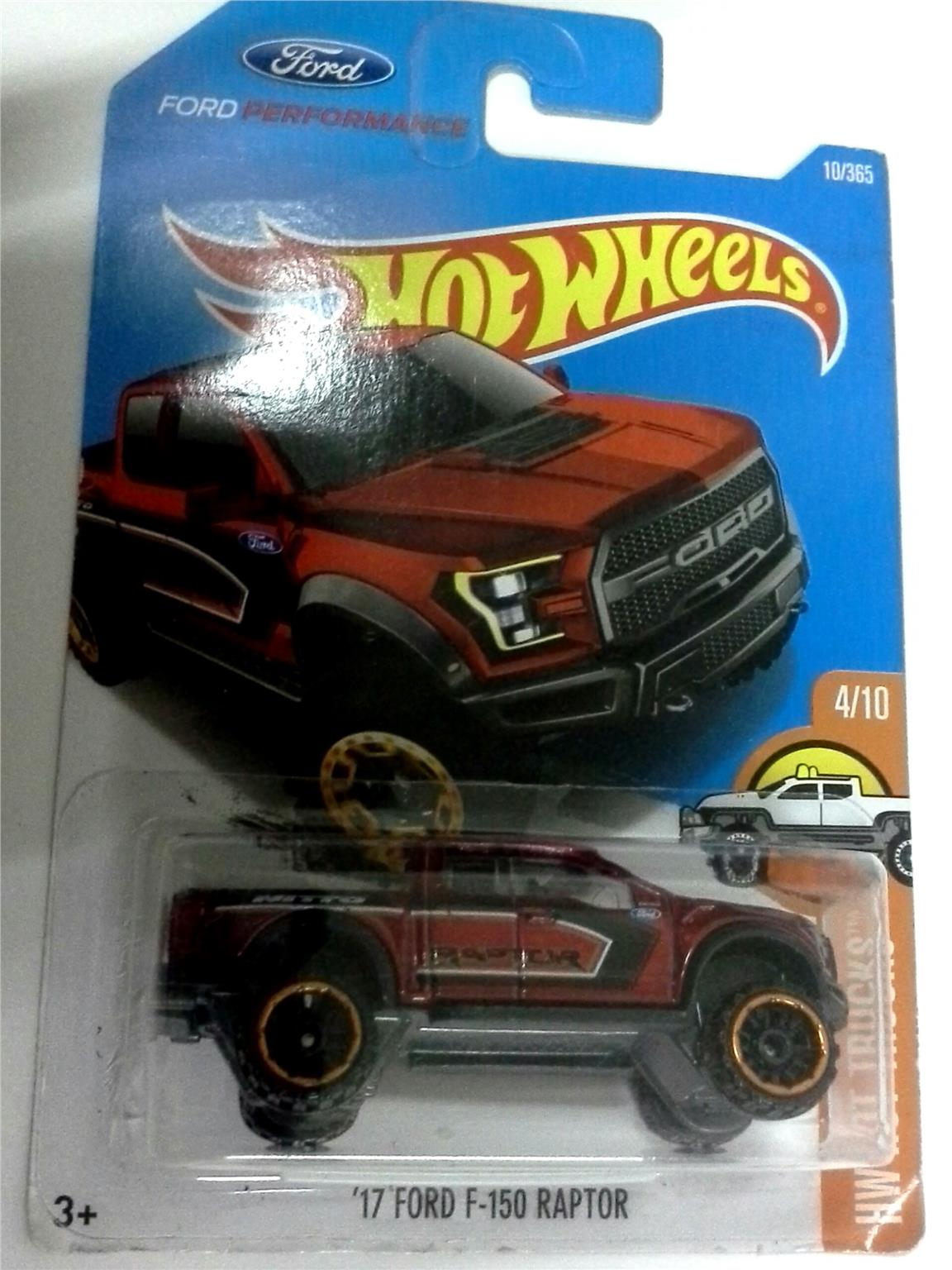 2016 Hot Wheels 17 FORD F-15 RAPTOR RED