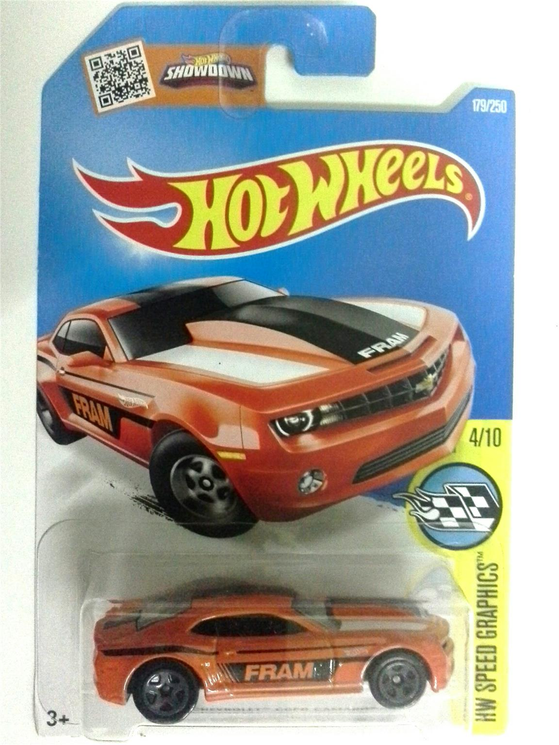 2016 Hot Wheels CHEVROLET COPO CAMARO ORANGE