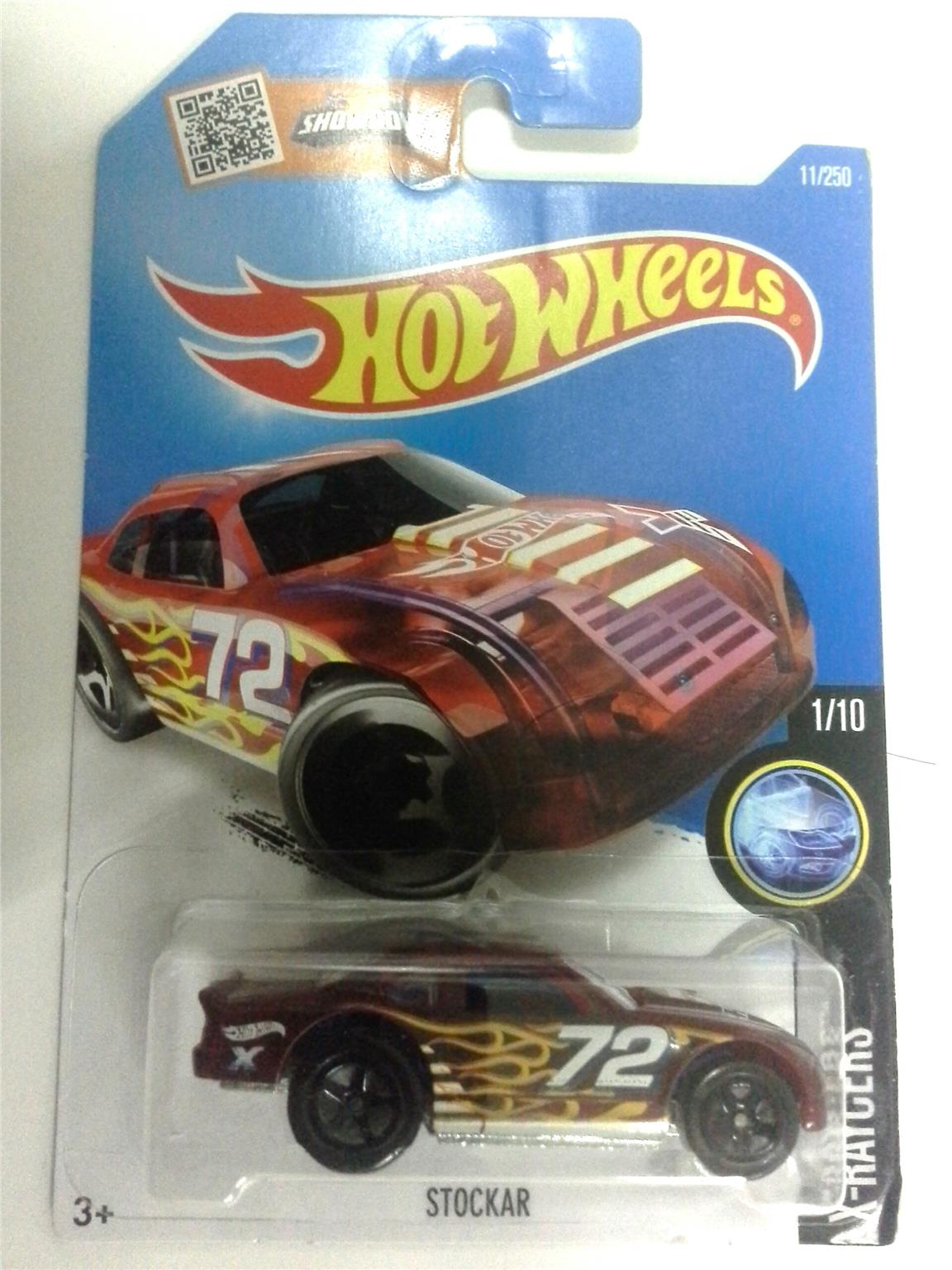 2016 Hot Wheels STOCKAR TRANSPARENT RED