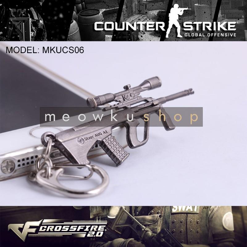 NEW 2016 Steyr AUG A1 CSGO Counter-Strike CF2 CrossFire Metal Keychain