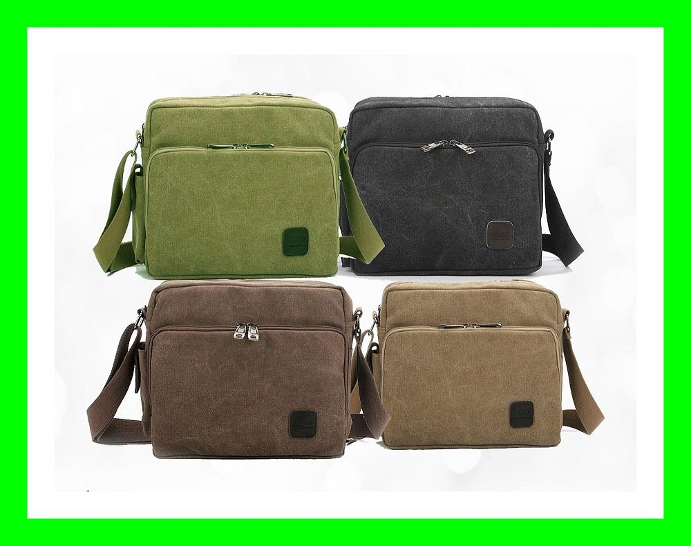 2016 STYLISH  MULTI COMPARTMENT CANVAS MEN BAGS MESSENGER BAG IPAD
