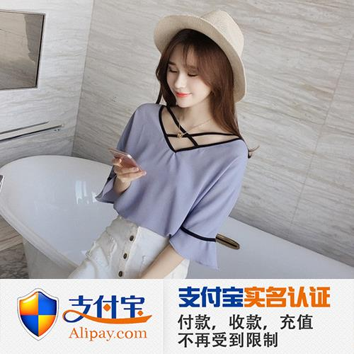 2017 WOMEN WOMAN LACE CHIFFON TOP ALIPAY SHIRT CLOTH SUMMER BEACH