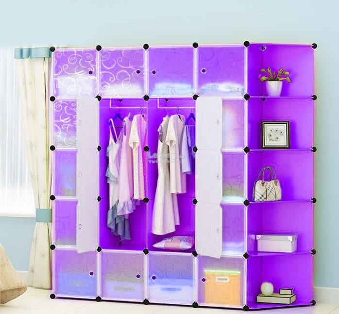 20C DIY WARDROBE & CORNERSHELF PURPLE
