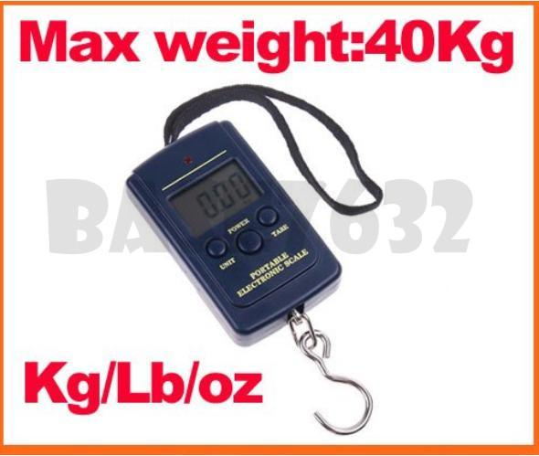 20g- 40kg 50kg Electronic Portable Luggage Fishing Weighing Scale