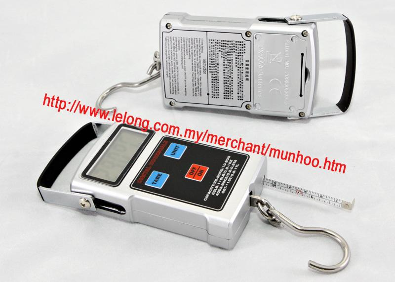 20g-50kg Digital LCD Luggage Fishing Weighing Scale, Thermometer, Tape