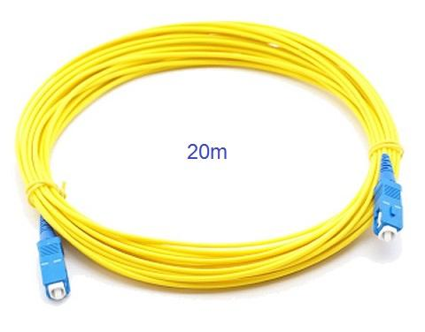 20m SC to SC SM Single Mode Fiber Optic Cable Patch Cord Unifi