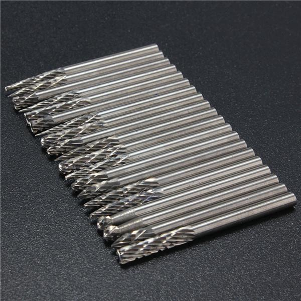 20pcs 1/8 Inch Shank Tungsten Carbide Cutter Rotary Burr Set