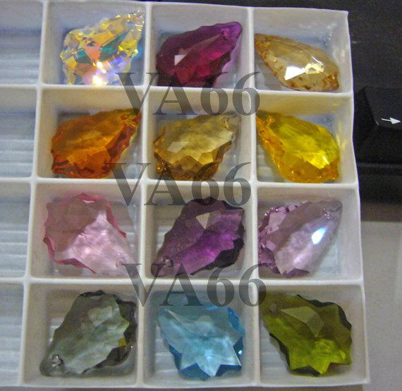 22mm x 15mm Swarovski Baroque Pendant Color choices #6090