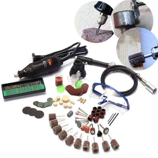 230V AC Electric Rotary Tool With Flexible Shaft Tool Kit And 105pcs A