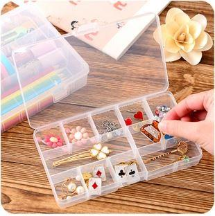 24 Grid Can Be Split Transparent Plastic Storage Box