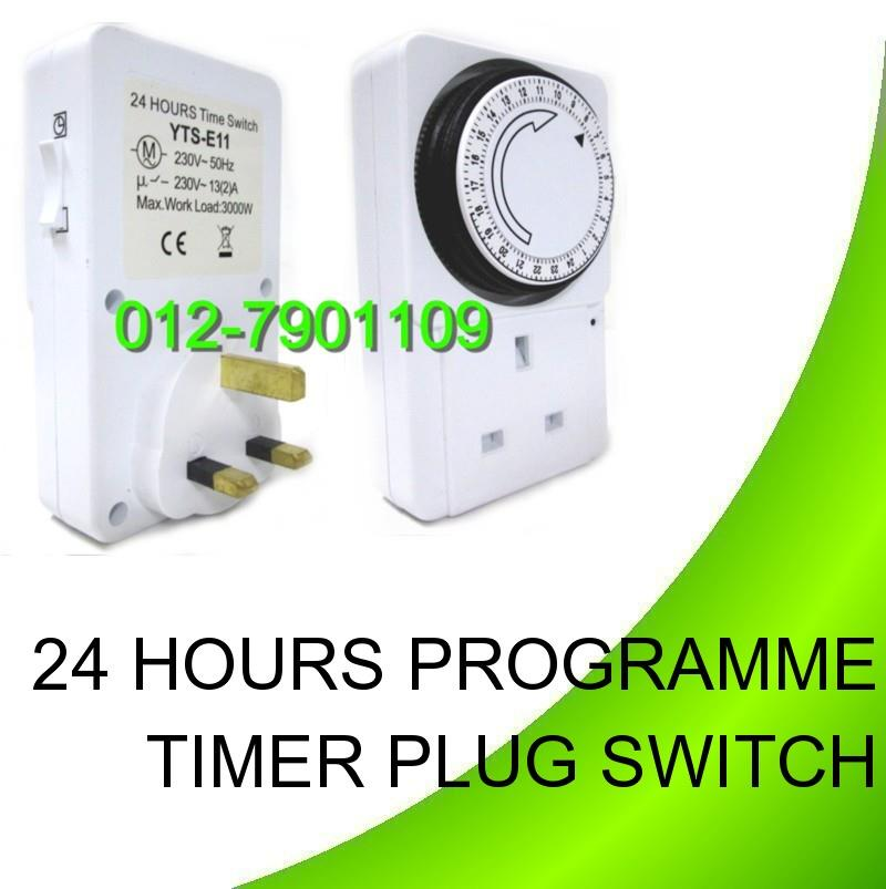 24 HOURS PROGRAMME TIMER PLUG 3000W PROGRAMMABLE AUTO ON OFF SWITCH