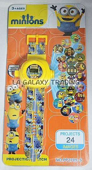 24 Images Kids Children Cartoon Digital Projector Watch (Minions)