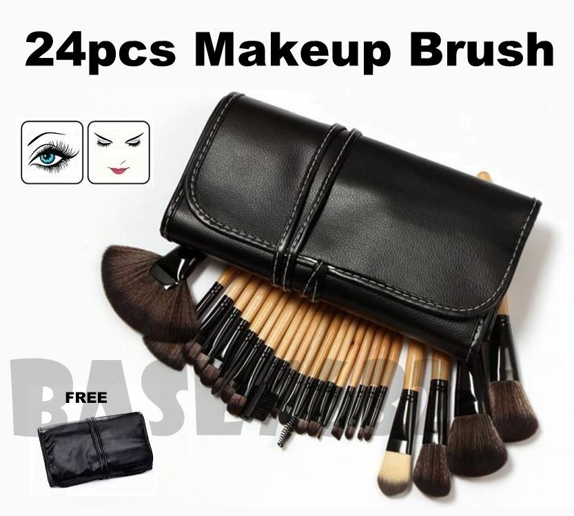 24 pcs 24pcs  Professional MakeUp Make Up Cosmetic Brush Set Kit Tools