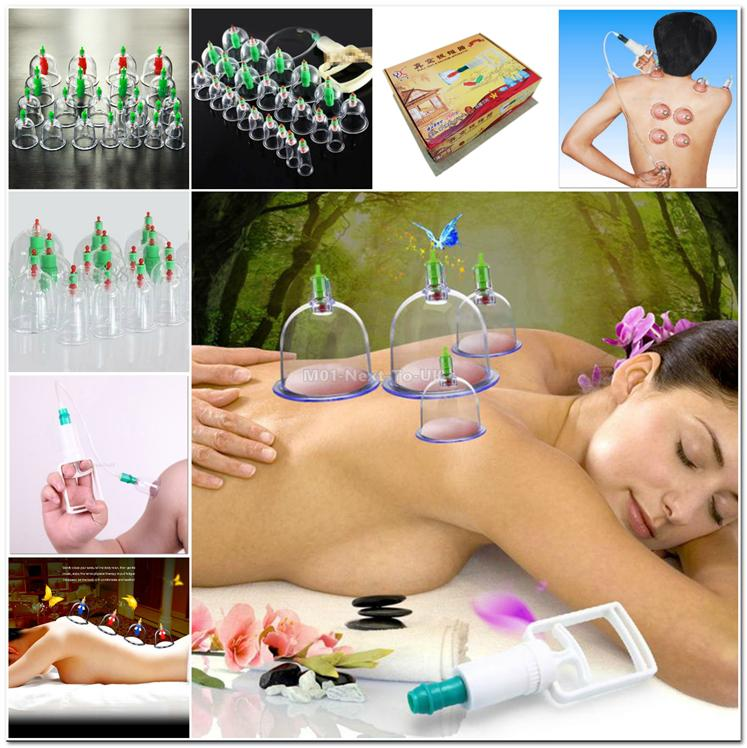 24 Pcs Pull Out Vacuum Chinese Acupuncture Medicine Magnet Therapy-Cup