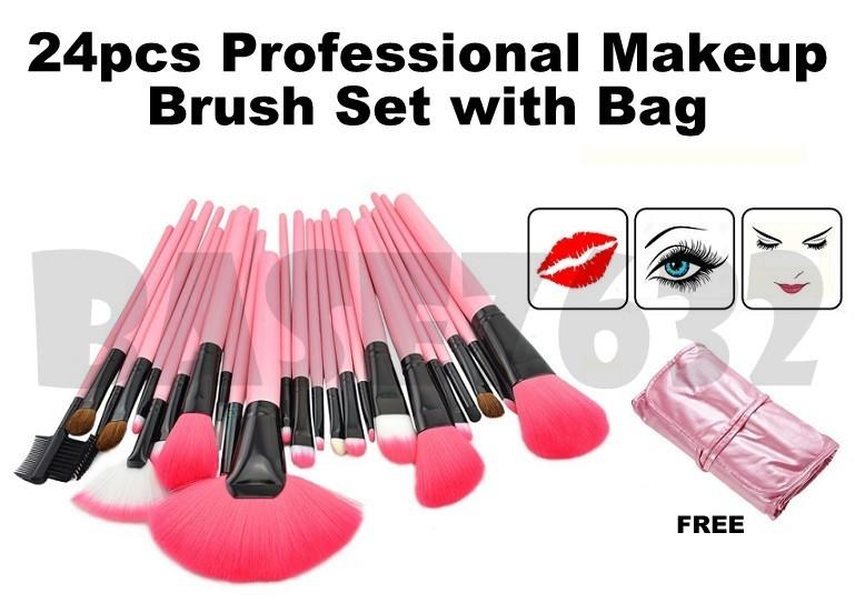 24pcs  24 Professional MakeUp Make Up Cosmetic Brush Set Kit Tools