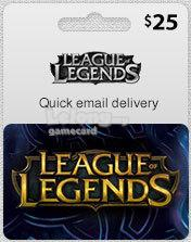$25 League of Legends Game Card (Email Delivery)