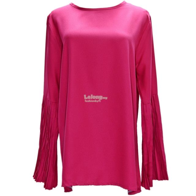 25947 Muslimah Blouse with Pleated Bell Sleeve
