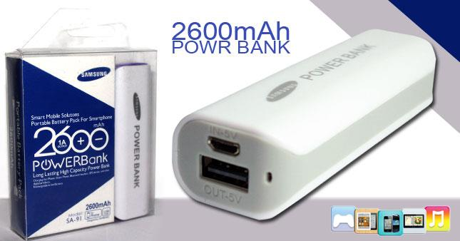 2600mah Power Bank Portable Battery Pack For Smartphone