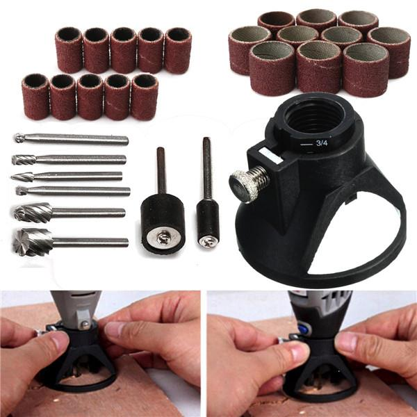 29pcs Drill Carving Positioner Locator with Sanding Bands and Rotary B