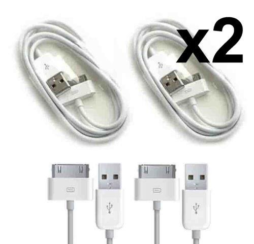 2PCS Apple iPhone 4S 4 3GS 3G iPad 1 2 USB Charging Sync Data