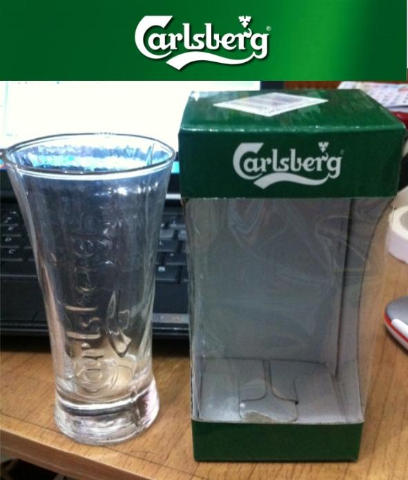 2pcs Carlsberg Green Box Tumbler Glass Limited Collection