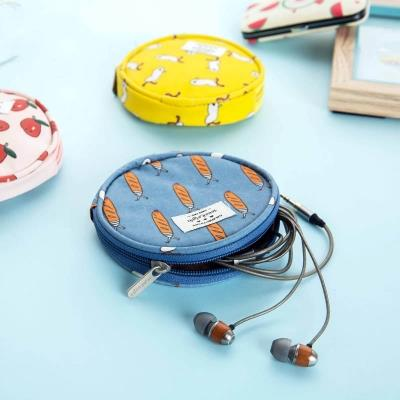 2PCS of Creative Cartoon Style Digital Cable Storage Bag Portable