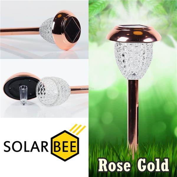 2pcs Solar Lights, SG0011 SOLAR BEE Whetherproof (Rose Gold)