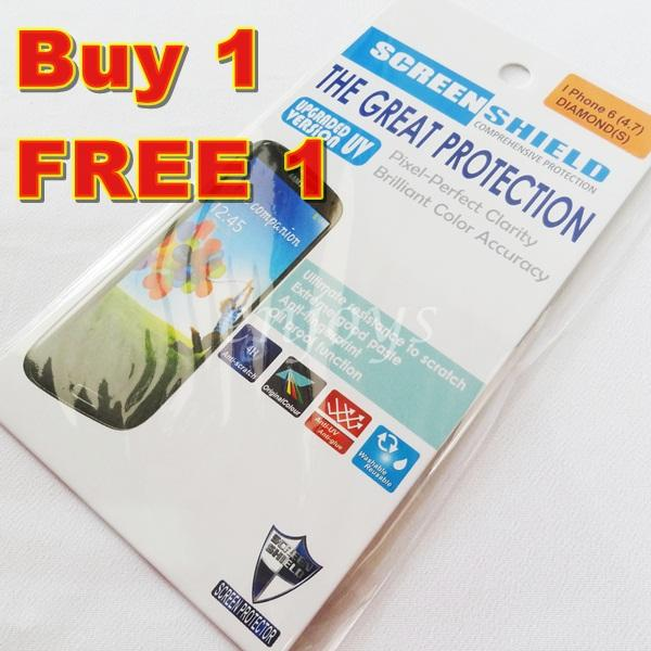 2x DIAMOND Clear LCD Screen Protector for Apple iPhone 6 6S ~4.7'